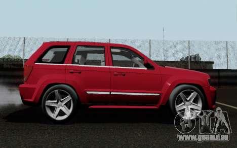 Jeep Grand Cherokee SRT10 pour GTA San Andreas vue de droite
