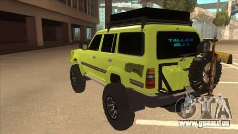 Toyota Land Cruiser für GTA San Andreas Rückansicht