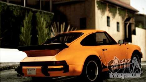 Porsche 911 Turbo 3.3 Coupe 1982 pour GTA San Andreas sur la vue arrière gauche