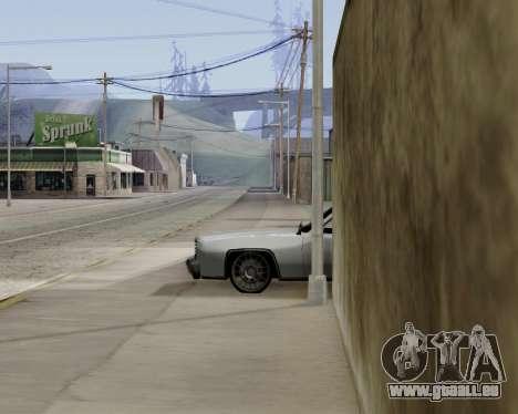 Buccaneer (beta) pour GTA San Andreas sur la vue arrière gauche