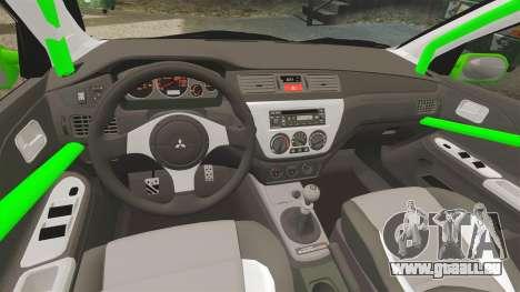 Mitsubishi Lancer Evolution VII Freestyle für GTA 4 Seitenansicht