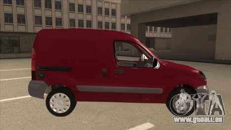 RENAULT KANGOO v1 pour GTA San Andreas sur la vue arrière gauche