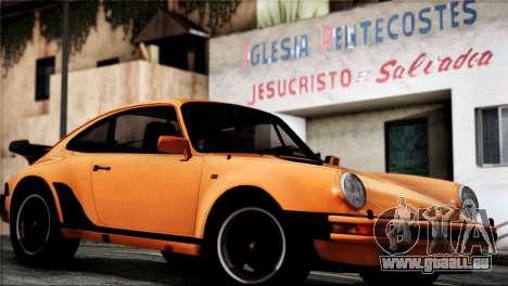 Porsche 911 Turbo 3.3 Coupe 1982 pour GTA San Andreas vue de droite