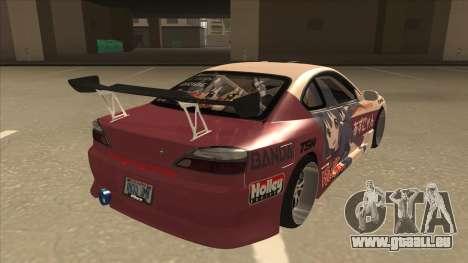 S15 K-ON Itasha pour GTA San Andreas vue de droite