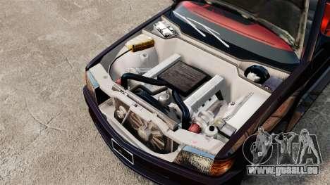 Mercedes-Benz C126 500SEC pour GTA 4 Vue arrière