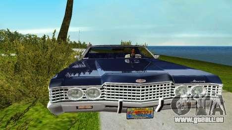 Mercury Monterey 1972 pour GTA Vice City sur la vue arrière gauche