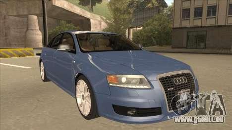 2010 Audi A6 4.2 Quattro pour GTA San Andreas laissé vue