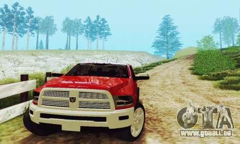 Dodge Ram 2500 HD für GTA San Andreas Innenansicht