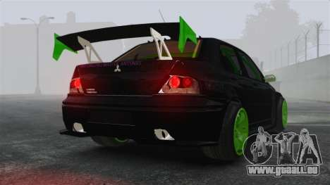 Mitsubishi Lancer Evolution VII Freestyle für GTA 4 hinten links Ansicht