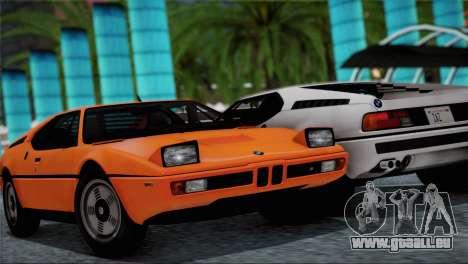 BMW M1 (E26) 1979 pour GTA San Andreas
