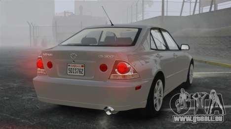 Lexus IS300 für GTA 4 hinten links Ansicht