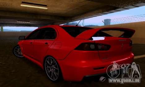 Mitsubishi Lancer Evo Drift Edition für GTA San Andreas linke Ansicht