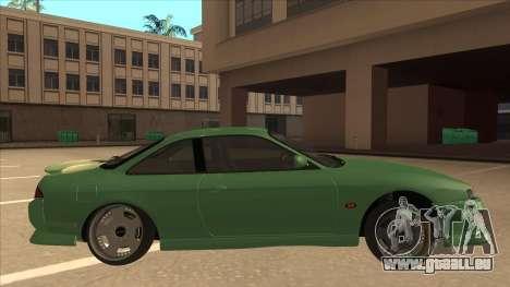 Nissan Silvia S14 Kouki Hellaflush V2 pour GTA San Andreas sur la vue arrière gauche