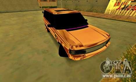 Land Rover Range Rover für GTA San Andreas zurück linke Ansicht