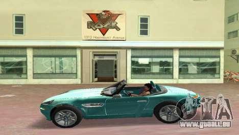 BMW Z8 pour une vue GTA Vice City de la droite