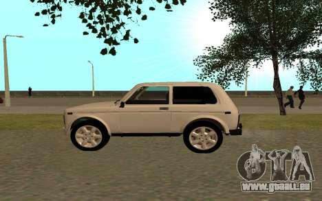 Le Niva VAZ 21213 pour GTA San Andreas laissé vue