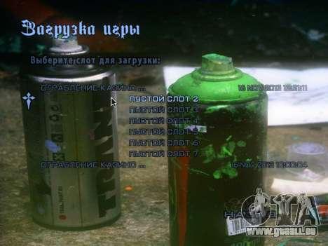 Das Thema des Hauptmenüs und laden im Graffiti-S für GTA San Andreas dritten Screenshot