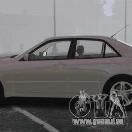 Lexus IS300 pour GTA 4 est une gauche