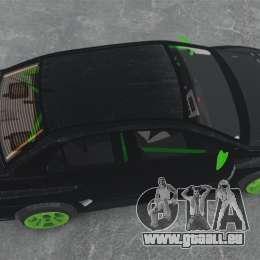 Mitsubishi Lancer Evolution VII Freestyle pour GTA 4 est un droit