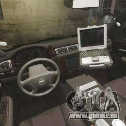Chevrolet Tahoe 2010 PPV SFPD v1.4 [ELS] für GTA 4 Rückansicht