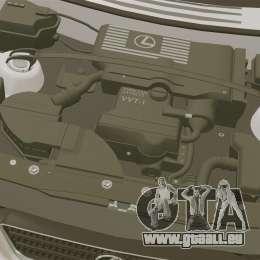 Lexus IS300 pour GTA 4 est une vue de l'intérieur