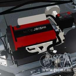 Mitsubishi Lancer Evolution VII Freestyle pour GTA 4 est une vue de l'intérieur