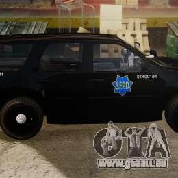 Chevrolet Tahoe 2010 PPV SFPD v1.4 [ELS] pour GTA 4 est une gauche