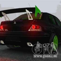 Mitsubishi Lancer Evolution VII Freestyle pour GTA 4 Vue arrière de la gauche