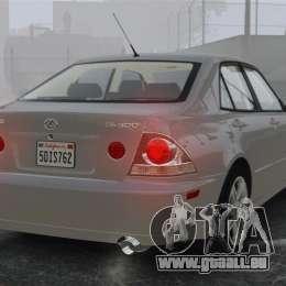 Lexus IS300 pour GTA 4 Vue arrière de la gauche