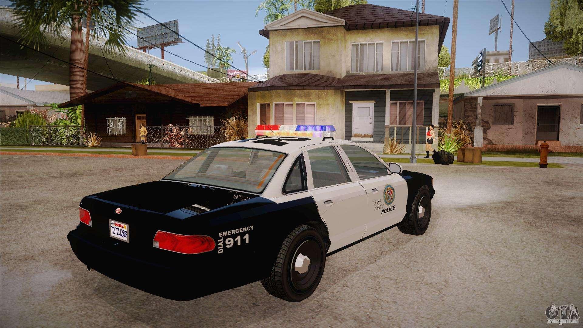vapid gta v police car pour gta san andreas. Black Bedroom Furniture Sets. Home Design Ideas