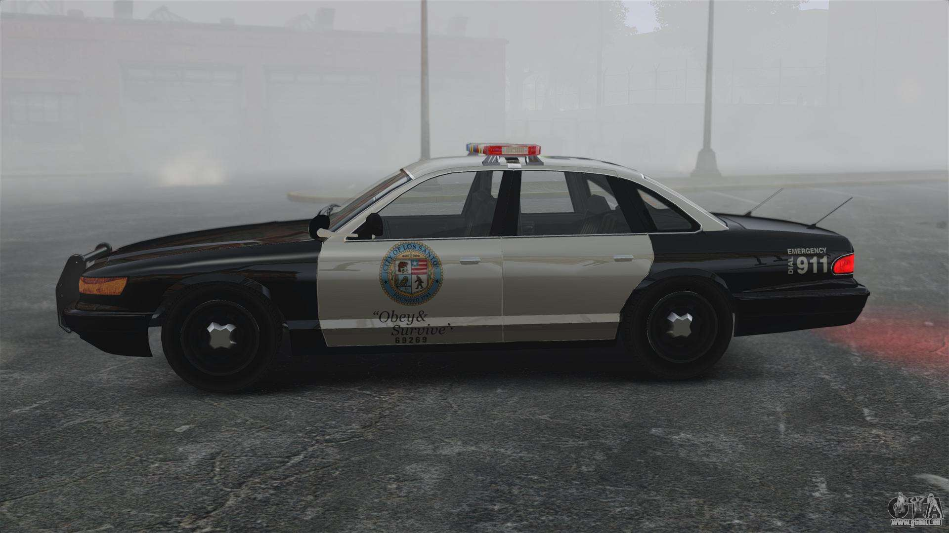 une voiture de police gta v pour gta 4. Black Bedroom Furniture Sets. Home Design Ideas