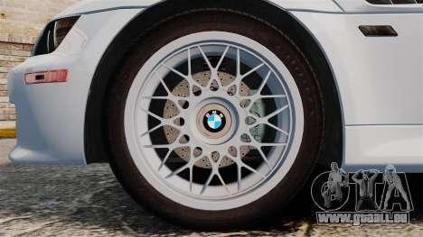 BMW Z3 Coupe 2002 pour GTA 4 Vue arrière