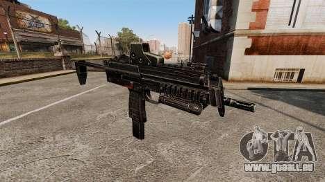 HK MP7 mitraillette v2 pour GTA 4 troisième écran