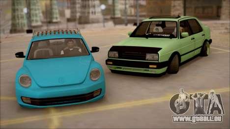 VW Jetta MK2 pour GTA San Andreas vue de droite