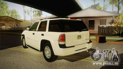 Chevrolet Trail Blazer pour GTA San Andreas sur la vue arrière gauche