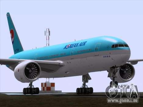 Boeing 777-2B5ER Korean Air für GTA San Andreas linke Ansicht
