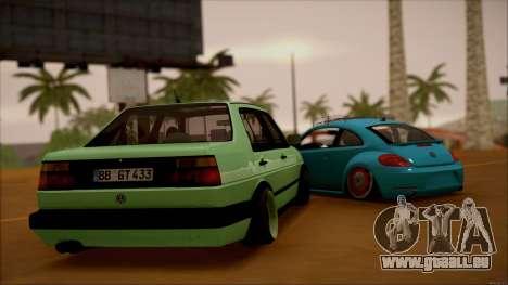 VW Jetta MK2 für GTA San Andreas zurück linke Ansicht