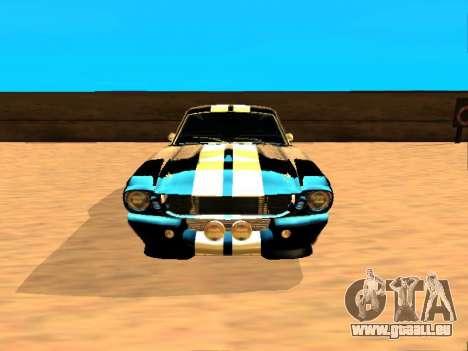 Ford Shelby GT-500E Eleanor pour GTA San Andreas laissé vue