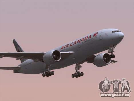 Boeing 777-200ER Air Canada pour GTA San Andreas salon
