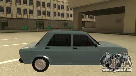 Zastava 128 Stock pour GTA San Andreas sur la vue arrière gauche