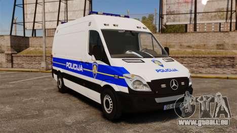 Mercedes-Benz Sprinter Croatian Police v2 [ELS] pour GTA 4