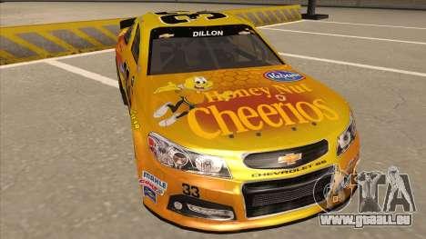 Chevrolet SS NASCAR No. 33 Cheerios pour GTA San Andreas laissé vue