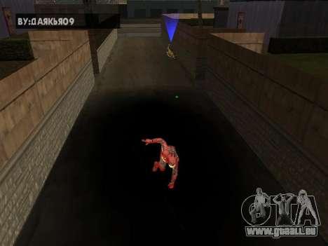 Impact de l'homme de fer sur la terre pour GTA San Andreas troisième écran