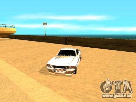 Ford Shelby GT-500E Eleanor für GTA San Andreas Innen