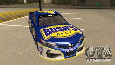Toyota Camry NASCAR No. 47 Bushs Beans pour GTA San Andreas laissé vue