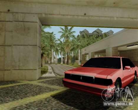 Premier tonique pour GTA San Andreas sur la vue arrière gauche