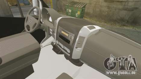Mercedes-Benz Sprinter Croatian Police v2 [ELS] pour GTA 4 Vue arrière