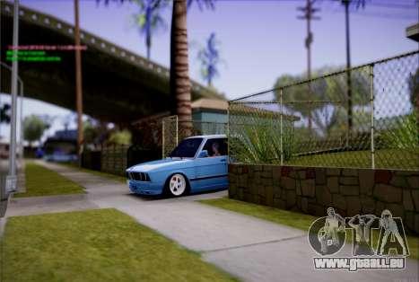 BMW 535I E28 pour GTA San Andreas vue arrière