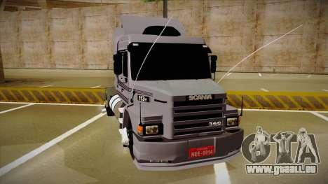 Scania 113H Top Line Neee Edit pour GTA San Andreas vue de droite
