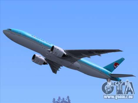 Boeing 777-2B5ER Korean Air pour GTA San Andreas roue